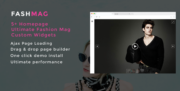 Fashmag - Lifestyle Blog & Magazine WordPress Theme - News / Editorial Blog / Magazine TFx Katashi Wally