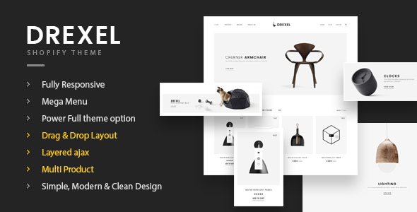 Fastest Drexel - Minimal Responsive Shopify Shopify Theme - Shopify eCommerce TFx Norton Desmond