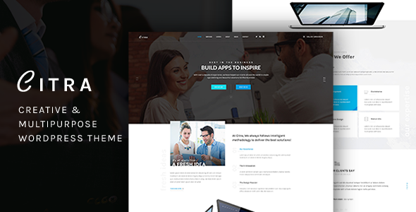 Finance WordPress Theme - Citra - Business Corporate TFx Elias Geordie