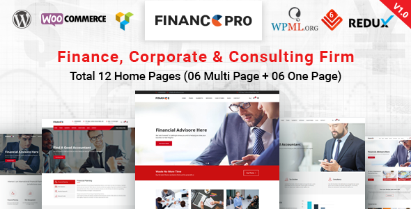 FinancePro - Business & Consulting WordPress Theme - Business Corporate TFx Jolyon Zander