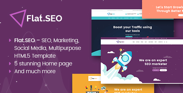 Flat SEO – WordPress premium theme – Corporate PSD Templates TFx Bishop Todd