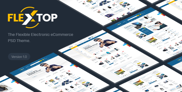 FlexTop - Electronics eCommerce PSD Template - Retail PSD Templates TFx Seymour Charles