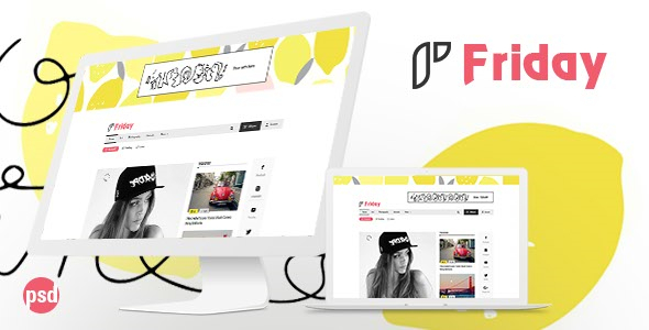 Friday - PSD Template for Viral Content Website - Miscellaneous PSD Templates TFx Voski Roger