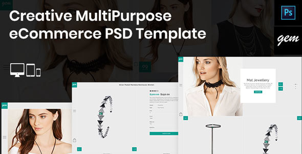 Gem – Creative MultiPurpose eCommerce PSD Template - Fashion Retail TFx Clarence Bademus