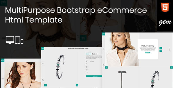 Gem – Multipurpose Responsive Bootstrap eCommerce Html Template – Fashion Retail TFx Bart Reagan