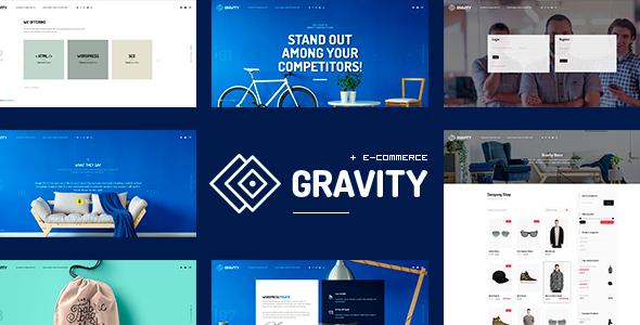Gravity - ECommerce, Agency & Presentation Theme - Portfolio Creative TFx Terrence Akio