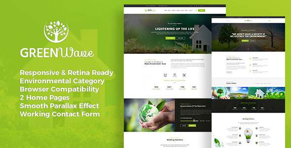 Green Wave - Environment / Non-Profit HTML Template - Environmental Nonprofit TFx Isadore Susilo