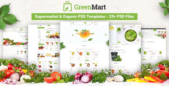 GreenMart - Food & Organic Supermarket PSD Template - Food Retail TFx Robin Terance