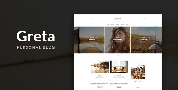 Greta - Blog HTML Template - Personal Site Templates TFx Carloman Nyoman