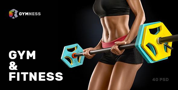 Gymness — Sport, Gym and Fitness PSD Template - Health & Beauty Retail TFx Mahatma Newton