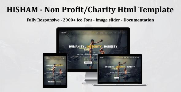 HISHAM - Non Profit/Charity Html Template - Nonprofit Site Templates TFx Finley Terrance