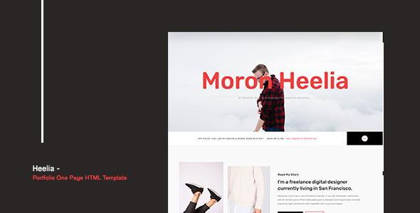 Heelia - Portfolio One Page HTML Template - Personal Site Templates TFx Nori Marlin