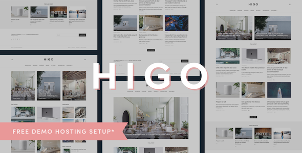 Higo - A Responsive WordPress Blog Theme - Personal Blog / Magazine TFx Isador Ian