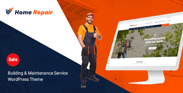 Home Repair - Building & Maintenance Service WordPress Theme - Business Corporate TFx Voski Wilfred
