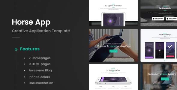 Horse App - Application HTML5 Template - Software Technology TFx Kazuo Brannon