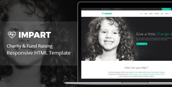 Impart – Responsive HTML Template for Charity & Fund Raising – Charity Nonprofit TFx Theobald Brennan