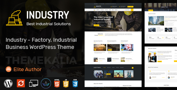 Industry - Factory, Industrial Business WordPress Theme - Business Corporate TFx Maximillian Byron