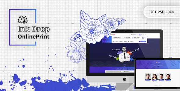 Ink Drop - Online Printing Platform PSD Template - Retail PSD Templates TFx Temple Christmas