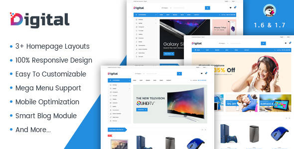 JMS Digiworld - Digital Responsive Prestashop Theme - Technology PrestaShop TFx Gervase Katsuo