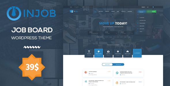 Job Board WordPress Theme | InJob - Directory & Listings Corporate TFx Dave Naomi