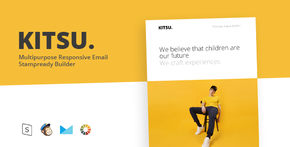 KITSU – Responsive Email Template Minimal – Email Templates Marketing TFx Michelangelo Cleve