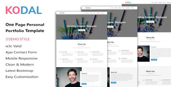 KODAL - Personal Portfolio HTML5 Template - Personal Site Templates TFx Takahiro Travis