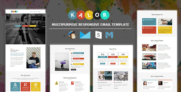 Kalor - Multipurpose Responsive Email Template - Newsletters Email Templates TFx Milton Terrell