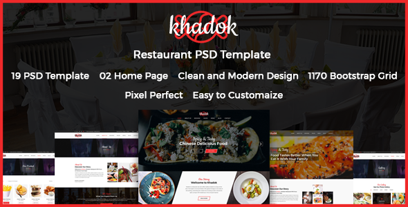 Khadok - Restaurant PSD Template - Restaurants & Cafes Entertainment TFx Wesley Ali