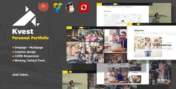 Kvest - Creative Responsive Personal Portfolio WordPress Theme - Portfolio Creative TFx Merit Will