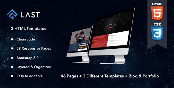 Last | HTML - Miscellaneous Site Templates TFx Justinian Colten
