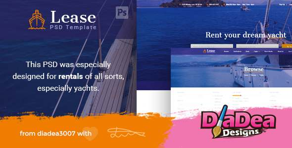 Lease - Boat & Yacht Rentals PSD Template - Creative PSD Templates TFx Constantine Walt