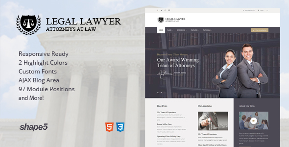 Legal Lawyer – Responsive Template – Business Corporate TFx Gordian Terell