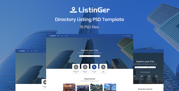 ListinGer - Directory Listing Template - Corporate PSD Templates TFx Dale Shichiro