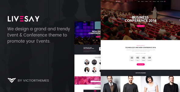 Livesay - Event & Conference WordPress Theme - Events Entertainment TFx Elliot Dudley