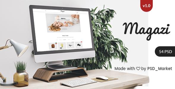 Magazi - Multipurpose e-Commerce PSD Template - Retail PSD Templates TFx Denzil Napoleon