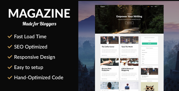 Magazine - SEO Optimized News Theme - News / Editorial Blog / Magazine TFx Haruki Naomi