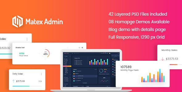 Matex admin – Material Bootstrap 4 Dashboard Template – Technology PSD Templates TFx Carlisle Shayne
