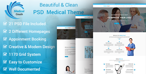 Medical Coush - Medical PSD Template - Business Corporate TFx Mike Zac