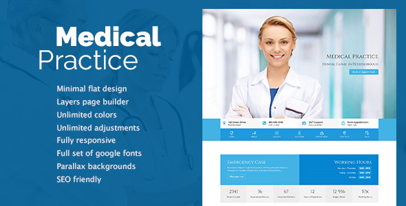 Medical Practice - Health & Clinic theme - Health & Beauty Retail TFx Archie Bill