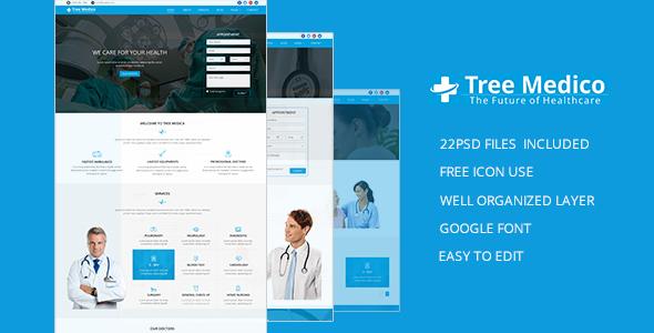 Medico Tree PSD Template - Health & Beauty Retail TFx Jackson Cnut