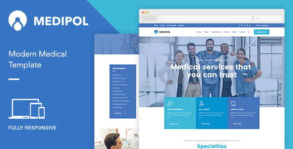 Medipol | Medical HTML Template - Health & Beauty Retail TFx Baxter Winthrop