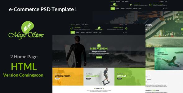 Mega store e-Commerce PSD Template - Fashion Retail TFx Taegan Morton
