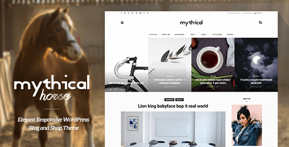 Mythical Horse - Elegant Responsive WordPress Blog and Shop Theme - Blog / Magazine WordPress TFx Joel Ernie