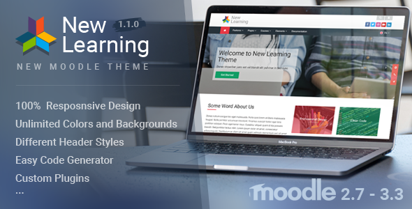 New Learning | Premium Moodle Theme - Moodle CMS Themes TFx Darnell Zander