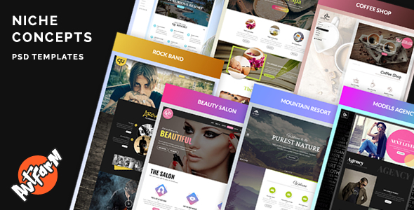 Niche Concepts - 7 PSD Templates - Creative PSD Templates TFx Headley Junior