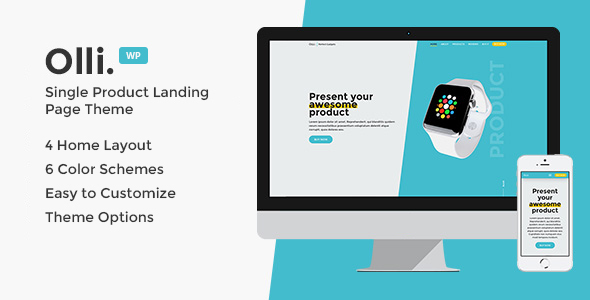 Olli - Single Product Landing Page Theme - Marketing Corporate TFx Hammond Dean