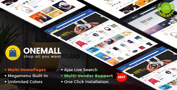 OneMall - Multipurpose eCommerce & MarketPlace WordPress Theme - WooCommerce eCommerce TFx Vince Willie