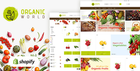 Organic World | Fruits & Vegetables Shopify Theme - Shopify eCommerce TFx Kazuki Kurt