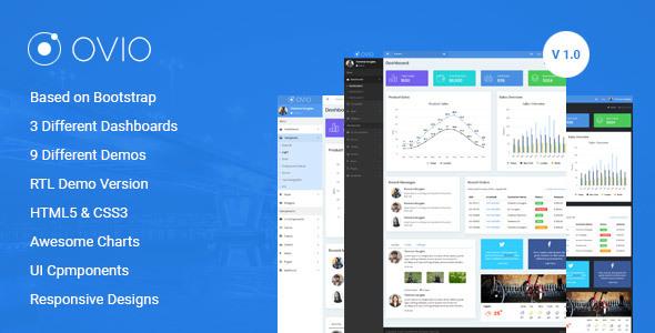 Ovio -  Bootstrap Based Responsive Dashboard - Admin Template - Admin Templates Site Templates TFx Caleb Sydney