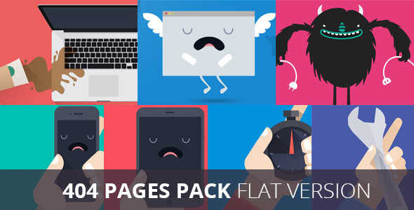 Pack 404 Flat Error Templates - 404 Pages Specialty Pages TFx Leland Gavin